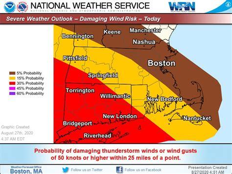 strong  severe thunderstorms  hit massachusetts
