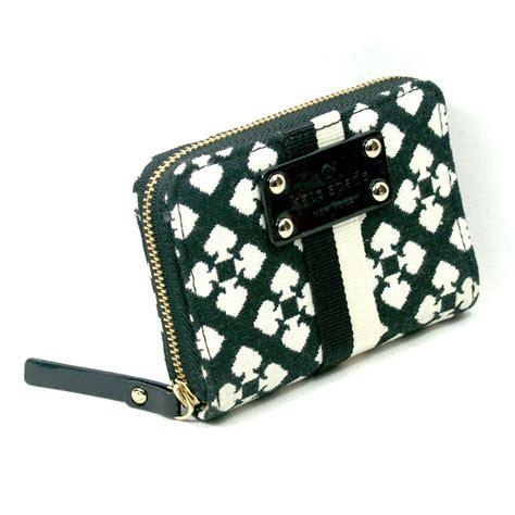 kate spade mini neda classic spade small wallet black
