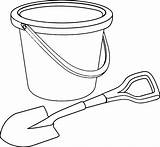 Shovel Coloring Bucket Pages Pail Beach Template Sand Printable Tocolor Steam Sketch Getcoloringpages Getcolorings Button Using sketch template