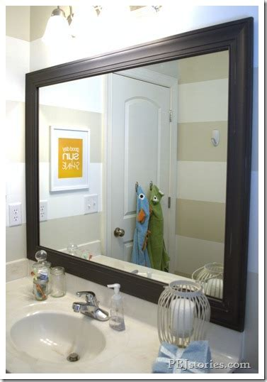 Framed Bathroom Mirrors Diy by Pbjstories How To Build Your Own Mirror Frame The Easy Way