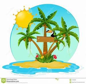 Poetisch Kleine Insel : kleine insel mit tropischen palmen vektor abbildung illustration von sch nheit baum 16420900 ~ Watch28wear.com Haus und Dekorationen