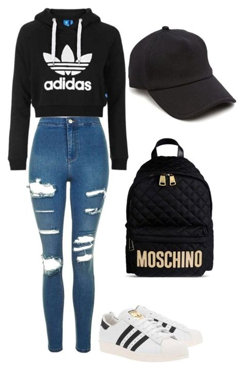 Back to school outfit #2   School outfits Moschino and Adidas