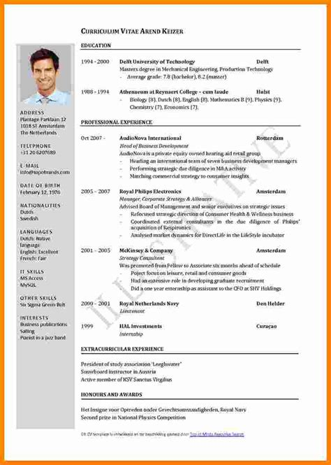 Best Cv Format by 9 Cv Format Sles Pdf Theorynpractice