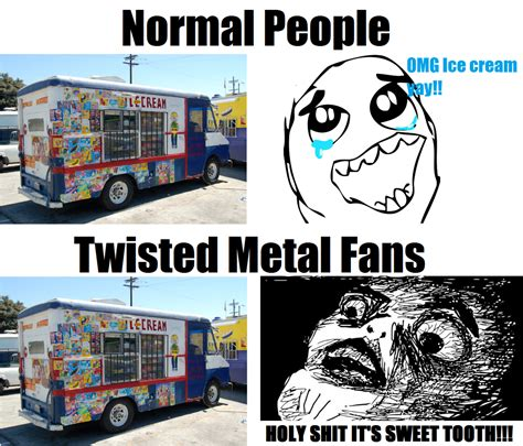 Twisted Memes - normal people vs twisted metal fans by eggheadcobra on deviantart