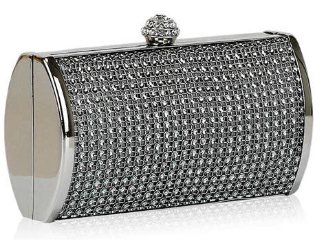 Wholesale Grey Sparkly Diamante Evening Clutch