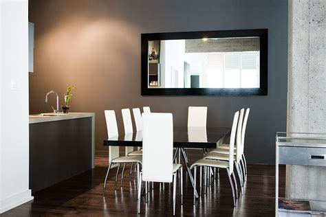 Contemporary Mirrors For Dining Room Layout With Modern