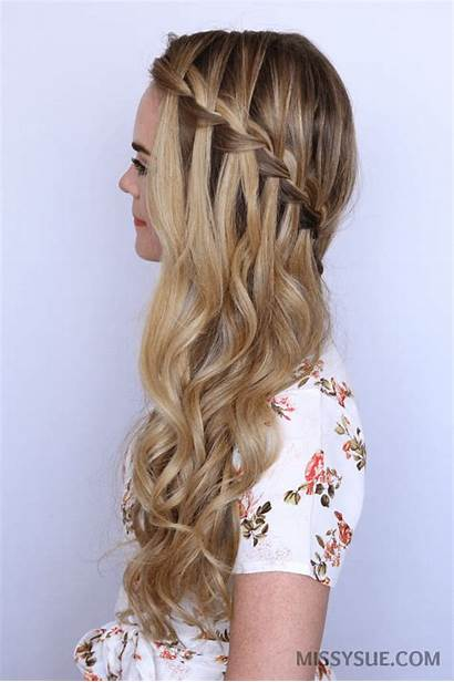 Braid Waterfall Hair Sideswept Tutorial Hairstyles Peinados