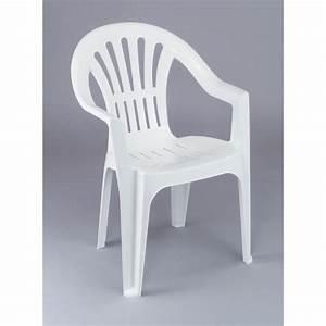 Chaise Blanche Plastique : lot 12 chaises de jardin en plastique blanc elba achat vente fauteuil jardin lot 12 chaises ~ Teatrodelosmanantiales.com Idées de Décoration