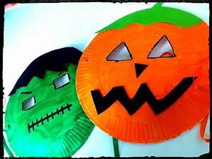 Masque Halloween A Fabriquer : masque assiette en carton ~ Melissatoandfro.com Idées de Décoration