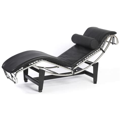 modern leather chaise longue corbusier style leather modern lc4 chaise longue