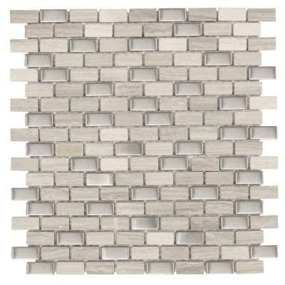 jeffrey court mosaic tile jeffrey court brick boulevard 11 1 4 in x 12 in x 8 mm