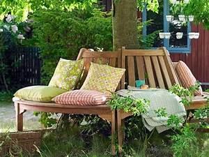 Garden Feelings Wer Steckt Dahinter : treffpunkt bl tterdach auf einer baumbank aus teakholz ~ Watch28wear.com Haus und Dekorationen