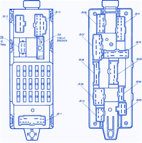Mazda Engine Fuse Box Block Circuit Breaker