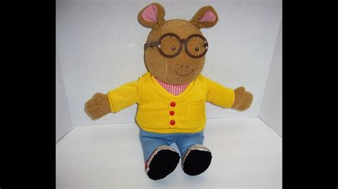 Vintage 1996 Talking Arthur Read Plush Toy By Playskool