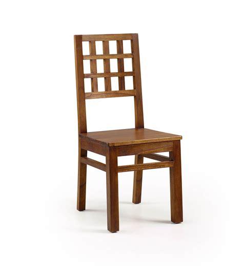 customiser chaise en bois chaise bois exotique couleur marron collection mawan