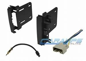 Car Stereo Radio Double 2 Din Cd Player Dash Install Trim