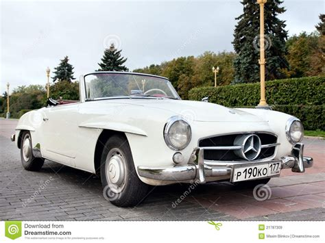 Classic Old Car White Editorial Stock Image. Image Of