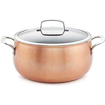 amazoncom lagostina giada stainless steel  qt covered dutch oven  lid  kitchen