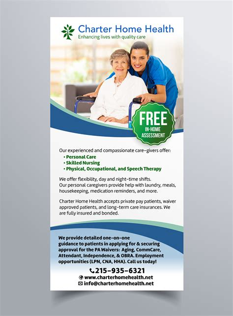 Home Design Newspaper by Personable Feminine Home Health Care Newspaper Ad Design