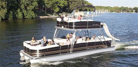 Pontoon With Upper Deck And Slide For Sale by Pontoon Boats With Upper Deck Outdoors Pinterest