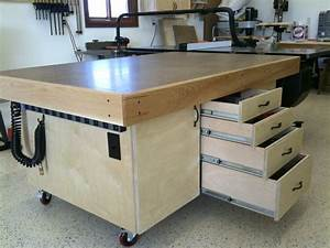 Outfeed table Workshop Utility Workbenches Pinterest