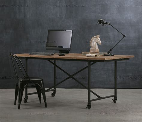 wrought iron computer desk american loft style furniture wrought iron wood dining