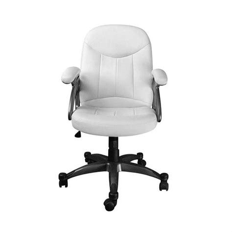 fauteuil bureau blanc fauteuil chaise de bureau blanc design enzo achat