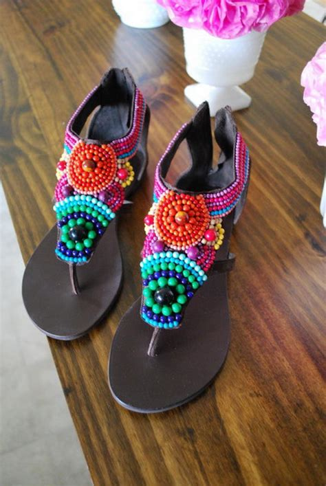 creative rainbow colored shoes styletic