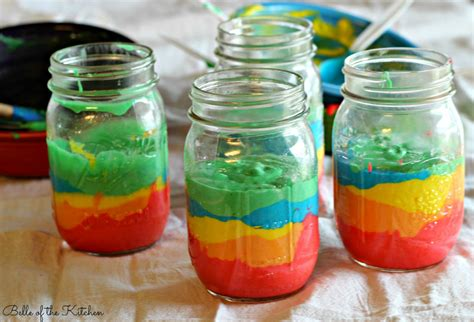 Diy Shower Pan by Mason Jar Rainbow Cake Belle Of The Kitchen