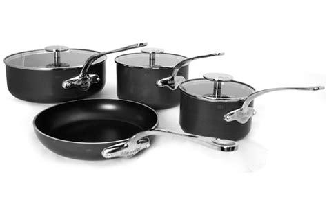 mauviel mstone ceramic nonstick cookware set  piece cutlery