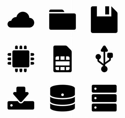 Icon Storage Save Icons Data Packs Vector