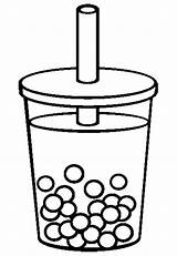 Tea Coloring Pages Iced Bubble Colouring Drawing Cup Drink Drinks Adults Template Sketch Clipart Printable Clip Cups Getdrawings Getcolorings Adult sketch template