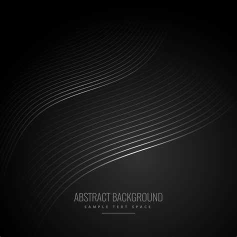 Abstract Black Vector Background by Abstract Black Background With Wave Lines Free