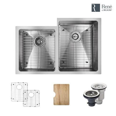 www elkay kitchen sinks rene by elkay undermount stainless steel 31 1 4 in right 1974