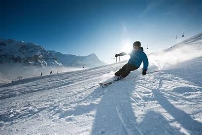 Skiing Winter Sunny Sports Perfect Switzerland Grindelwald