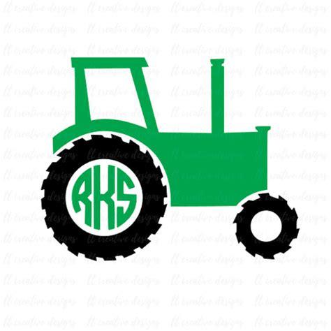 tractor svg tractor monogram svg svg files cricut cut