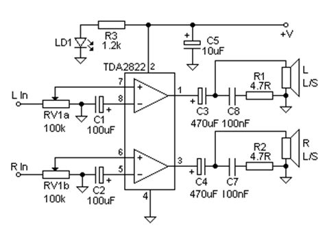 Low Voltage Mini Stereo Amplifier
