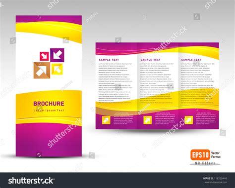 Yellow Brochure Design Vector Millions Vectors Vector Brochure Tri Fold Layout Design Template Yellow