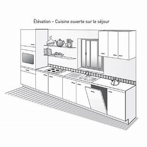 plan de cuisine marie claire With disposition cuisine en l