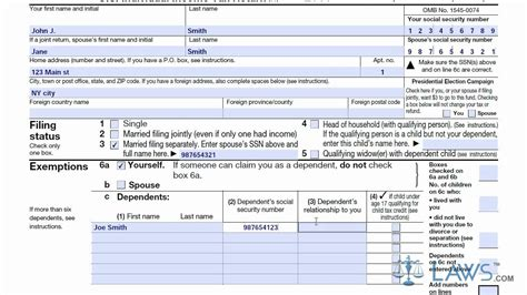 learn how to fill the form 1040a u s individual income tax return youtube