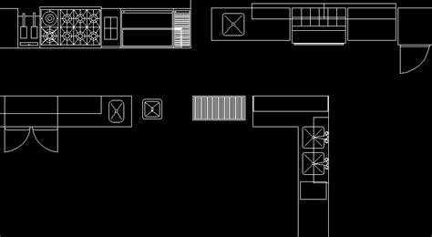 cocina industrial en autocad descargar cad gratis