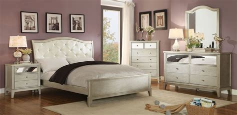 silver bedroom set adeline silver upholstered platform bedroom set cm7282q