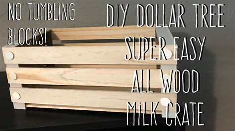 diy dollar tree  wood milk crate  tools  tumbling
