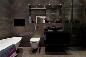petite salle de bain dans chambre 8 des teintes sombres With petite salle de bain dans chambre