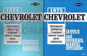 1975 Chevy Nova Wiring Diagram Manual Reprint