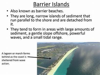 Barrier Geography Level Islands Salt Marshes Mudflats