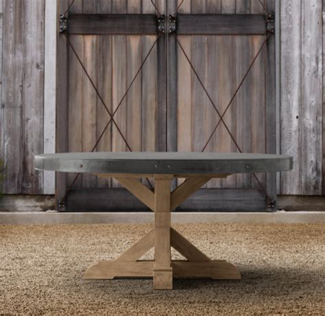 concrete dining table eclectic outdoor dining