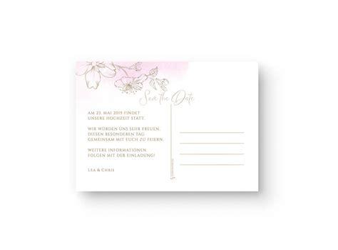 save  date postkarten fuer eure hochzeit mit goldener