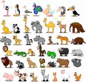 可愛い動物アイコン cute cartoon animals イラスト素材 | ai eps イラストレーター