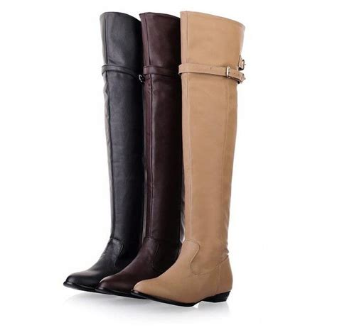 low motorcycle boots new 2014 over the knee high boots women motorcycle boots